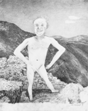 Man on Mountain, 2003 - pencil on paper - 61 x 48.3 cm (24 x 19 in)