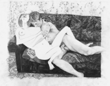 Sex (Couch), 2003 - pencil on paper - 48.3 x 61 cm (19 x 24 in)
