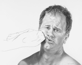 Self Portrait (Elbow), 2006 - pencil on paper - 48.3 x 61 cm (19 x 24 in)