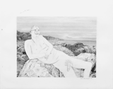 Man on Rocks (Small), 2004 - pencil on paper - 48.3 x 61 cm (19 x 24 in)