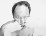 Self Portrait (Fists), 2004 - pencil on paper - 48.3 x 61 cm (19 x 24 in)