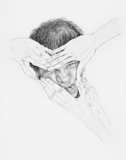 Self Portrait (Squished Face), 2005 - pencil on paper - 61 x 48.3 cm (24 x 19 in)