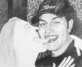 Tongue Kiss (Hat), 2005 - pencil on paper - 35.5 x 43.2 cm (14 x 17 in)