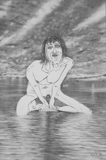 Woman in Water, 2012 - pencil on paper - 27 x 18 cm (10 ¾ x 7 in)