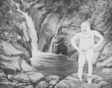 Man on Rocks (Waterfall), 2015 - pencil on paper - 48 x 61 cm (18 ¾ x 24 in)